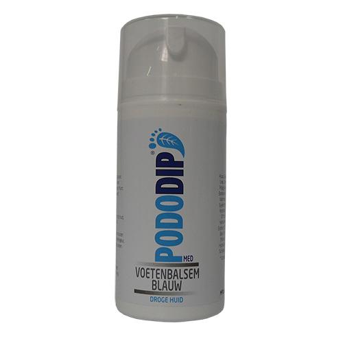 pododip blauw voetenbalsem droge huid fles 100 ml